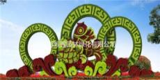 春节喜庆园林景观绿雕 仿真绿雕造型 春节广场绿植草雕工艺品