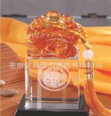 高檔琉璃精品 人造水晶 琥珀 中吉祥興旺 鎮宅避邪 水晶仿琉璃