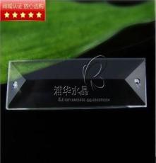 供應水晶玻璃掛件 76*22mm長條水晶玻璃掛件 浦江水晶燈飾掛件