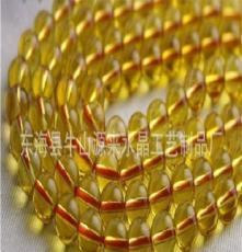 天然水晶批发 巴西黄水晶半成品散珠14mm DIY饰品 可做手链项链