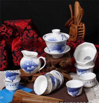 礼品青花瓷茶具 陶瓷功夫茶具套装 德化陶瓷 青花茶具