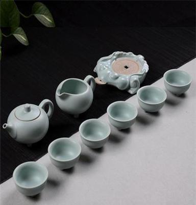 厂家汝窑茶具供应 汝窑汝瓷窑变茶具礼品 特色汝窑茶具批发