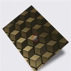 鏡面鈦金局部拉絲局部亂紋立方體不銹鋼板