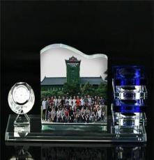 云浮水晶工藝品定做 云浮水晶筆筒加相框(圖)