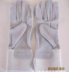 厂家生产牛皮制电焊手套 防护手套 牛皮全掌防割劳保手套厂家批发