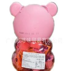 臺灣進口7M小熊果凍布丁桶裝 粉色優酪綜合味608g*6桶/箱