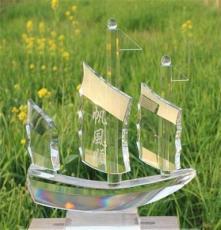 供應水晶帆船,深圳水晶帆船禮品制作公司,慶典水晶禮品紀念品