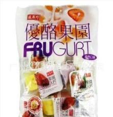 臺灣 盛香珍優酪果園果凍/布丁350g*10袋/箱進口零食批發