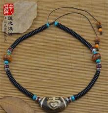 原创设计民族风异域藏风藏式《宝瓶》天珠 天然椰壳精品文艺项链