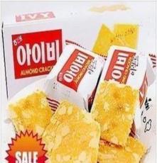 韓國食品 韓國蘇打餅干 海太IVY杏仁 酥脆薄餅133克 一箱14盒