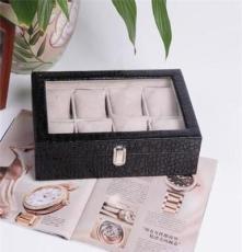 皮革透明盖手表盒 饰品盒 高档首饰盒 手表盒批发