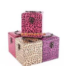 豹纹内三层首饰盒 饰品盒 高档首饰盒 饰品盒批发