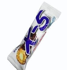 韓國零食品 三進X5巧克力棒36g*24根 果仁夾心X5巧克力棒批發