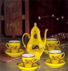 湖南醴陵 汉博精瓷 中国红瓷套装茶具 陶瓷礼品茶具