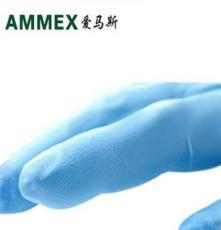供应爱马斯APFGWCHD一次性加厚型蓝色丁晴手套 卫生工业手套