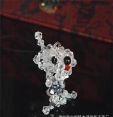 diy水晶串珠 热卖纯手工编织水晶串珠成品 手机饰品挂件