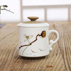 手绘陶瓷茶杯定做厂家 纪念礼品杯子 会议活动水杯定制