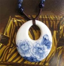 景德鎮陶瓷項鏈 民族風首飾品 青花瓷 小額混批 旅游紀念品定制