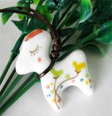 景德鎮創意項鏈 手工陶瓷項鏈 可愛狗狗 俏皮可愛爆款 卡通項飾
