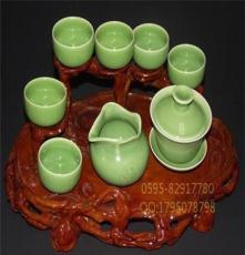 厂家专业批发龙泉青瓷茶具套装