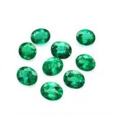 SER彩寶 5x7mm天然橢圓祖母綠裸石 2520元/克拉 正品現貨