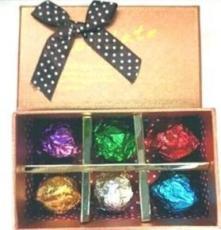 節日精致巧克力禮盒裝6顆