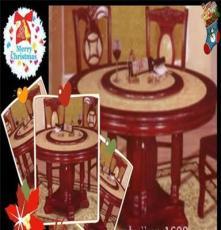 供应批发实木餐桌(F7#大理石圆台)实木家具 全套餐厅家具