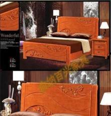 厂家直销 批发高档卧室家具(829#橡木床)