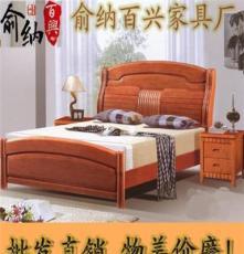 工厂人气款 现代家具高档卧室家具实木家具 实木床进口橡木床813#