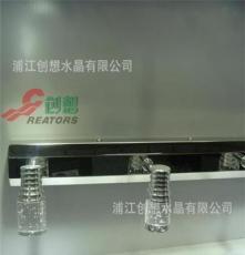 厂家K9水晶创意灯罩灯饰灯具配件桃心型异型定制彩色压型采购
