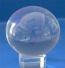 供应80mm透明无色水晶打孔球 可批发订做各种规格