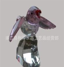 生產供應 水晶情人節禮品 水晶工藝品 水晶彩色鵲