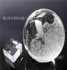 卡思歐開發、生產銷售一體供應水晶地球儀校慶禮品 地理課水晶球