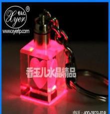 k9水晶 水晶鑰匙扣 水晶鑰匙扣訂制禮品 水晶鑰匙扣廠家