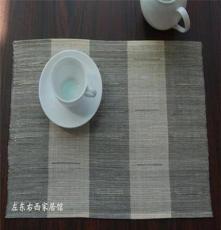 全手工纯苎麻面料/苎麻咖啡袋/杯垫/桌布/日韩出口