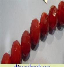 10毫米红玛瑙多切角珠