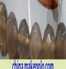 10毫米灰玛瑙多切角珠