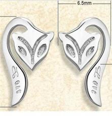 厂家直销批发 S925纯银首饰品 可爱狐狸耳钉 女小配饰耳饰耳环