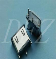 深圳廠家專業生產供應 HDMI 19P母座立式SMT鐵鎳 H=13.0
