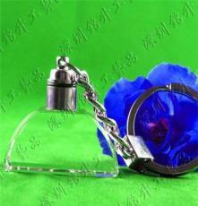 LED鑰匙扣 水晶鑰匙扣 激光內雕禮品定制