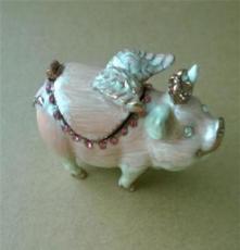 新款纳兰精美大气时尚简约畅销合金小猪首饰珠宝盒饰品
