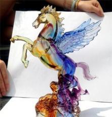 廠家批發定制琉璃大小飛馬/馬到成功/琉璃工藝品/琉璃馬年禮品