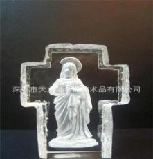 供應水晶擺件影像深雕水晶圣誕老人