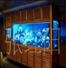 定制订制别墅观赏海水鱼缸 水族器材观赏鱼缸 梦阳水族定做鱼缸