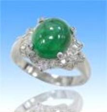 祖母绿钻戒/富貴3克拉祖母綠鑽戒
