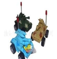(廠家直銷)供應3027真伙伴奶瓶裝迷彩坦克玩具糖果