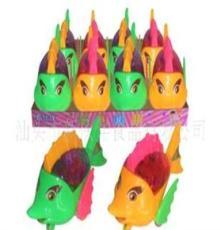 (工廠直銷)供應0256真伙伴盒裝拉線燈光劍魚新玩具糖果