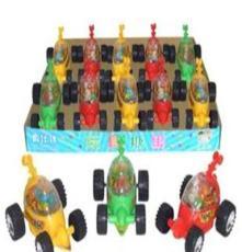 廠家直銷 供應1097真伙伴盒裝拉線大燈光翻斗車新食品玩具糖果