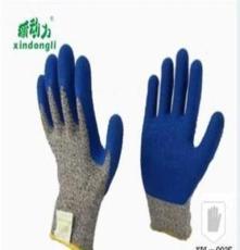高强高模聚乙烯乳胶起皱涂层防割防护手套