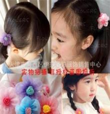 530婴儿童头饰发饰 宝宝发夹 韩版头绳 泡泡纱发绳1个 厂家批发